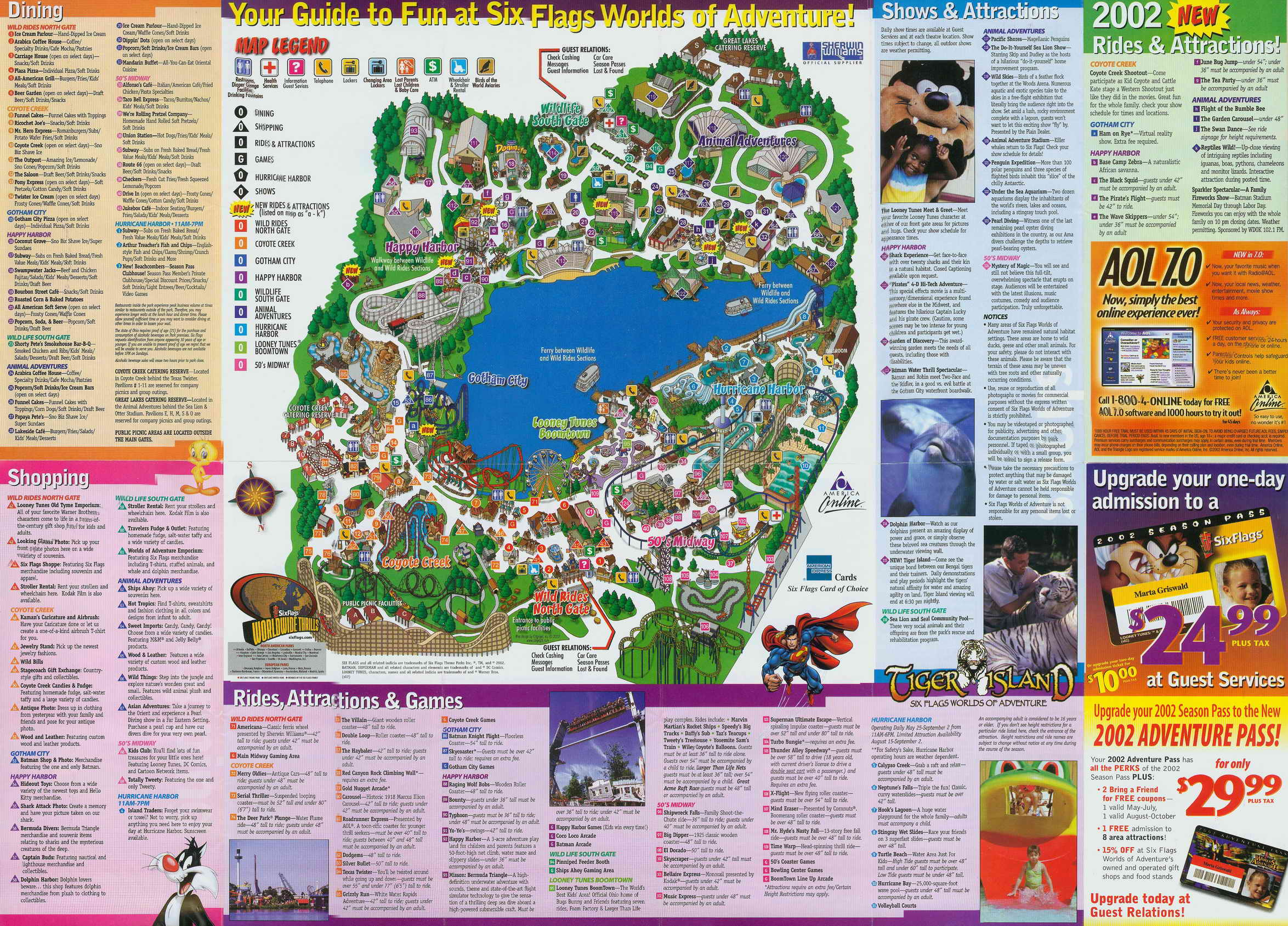 2002 six flags worlds of adventure park guide map gumiabroncs Choice Image