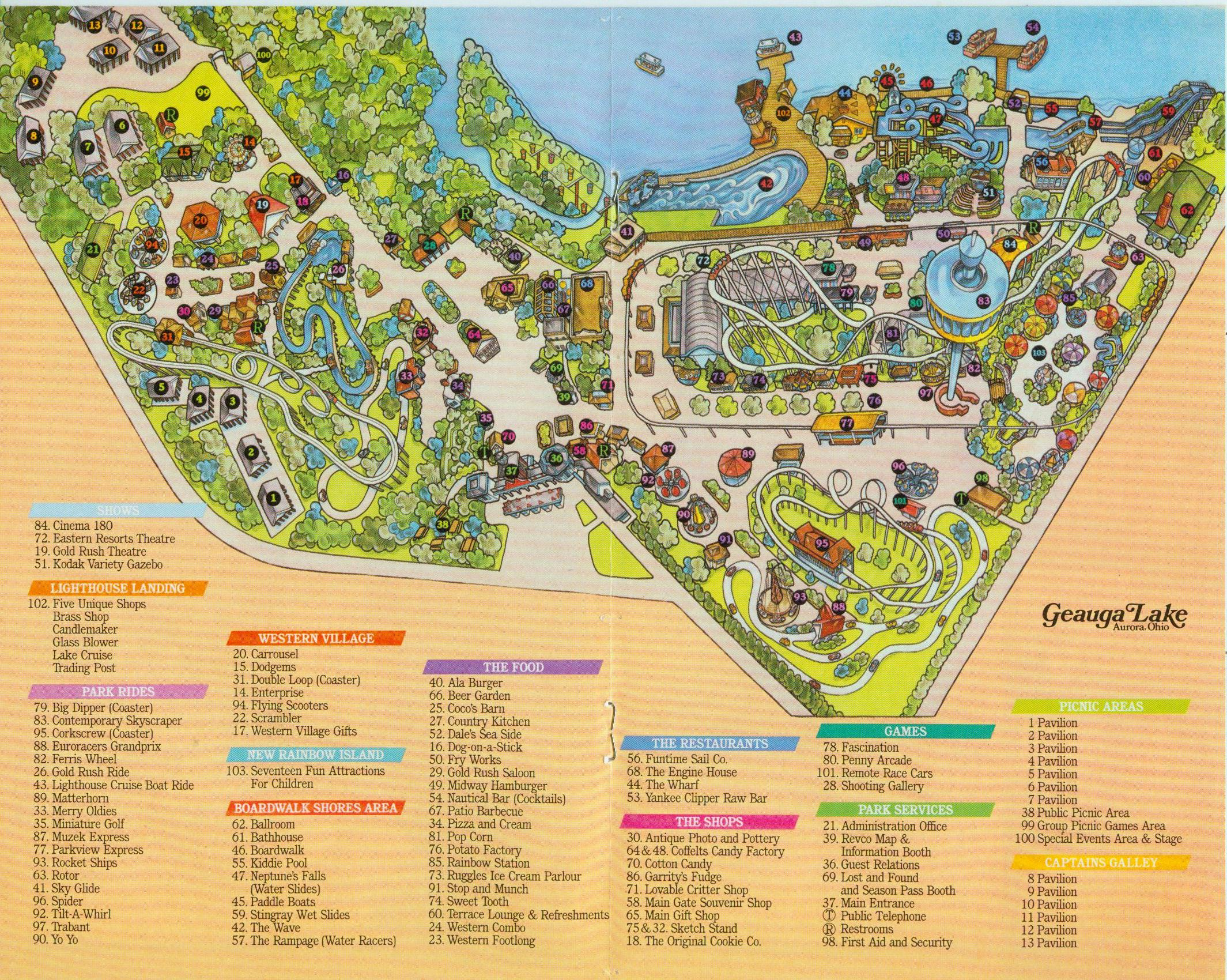 Geauga Lake Maps